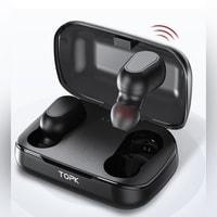 Słuchawki do telefonu z mikrofonem Bluetooth 5.0 TOPK TWS.0